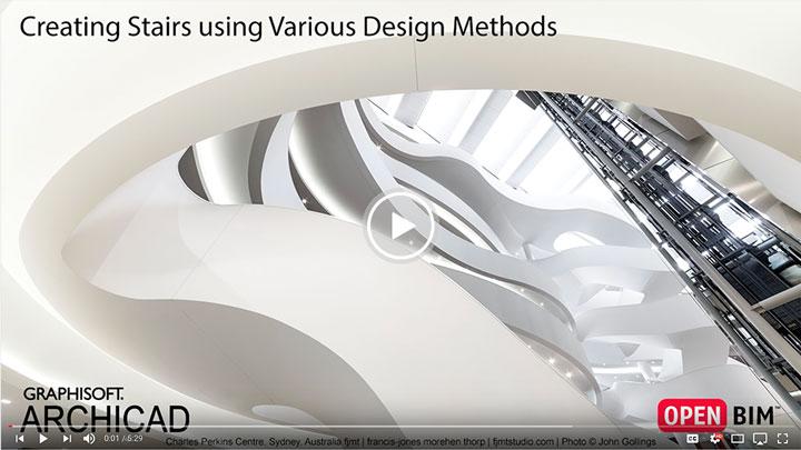 روشهای طراحی پله در آرشیکد ۲۱