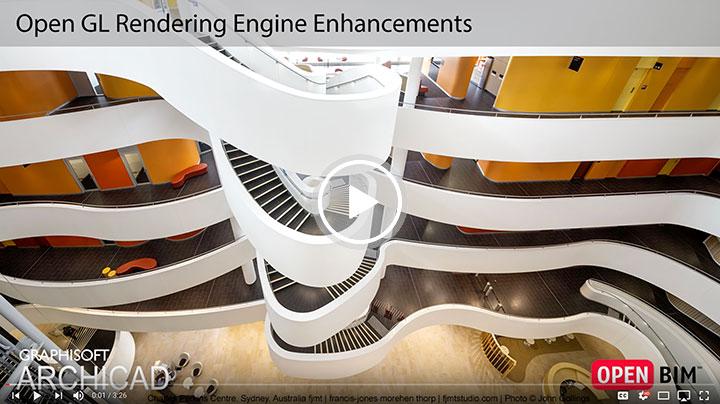 موتور رندر اپن جی ال در آرشیکد ۲۱